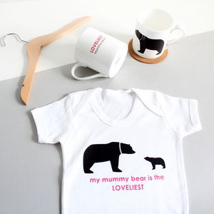 Loveliest Mummy Bear Baby Grow - 1st mother's day