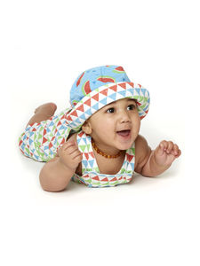 Triangle And Watermelon Print Reversible Sunhat - hats, scarves & gloves