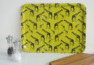 Large Serving Tray With Giraffes - tableware