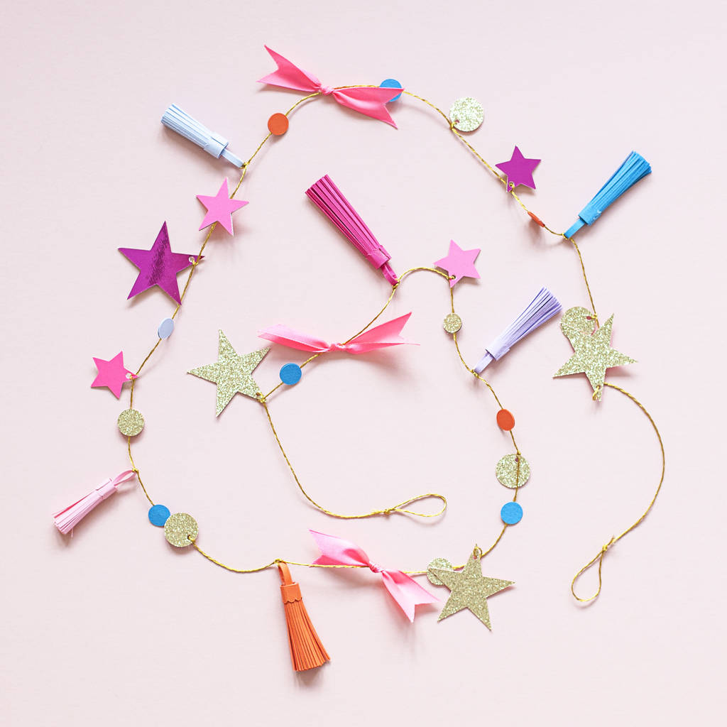 Handmade Paper Tassel Christmas Garland
