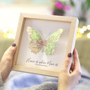 Home Is Where Mum Is Map Butterfly Print Gift