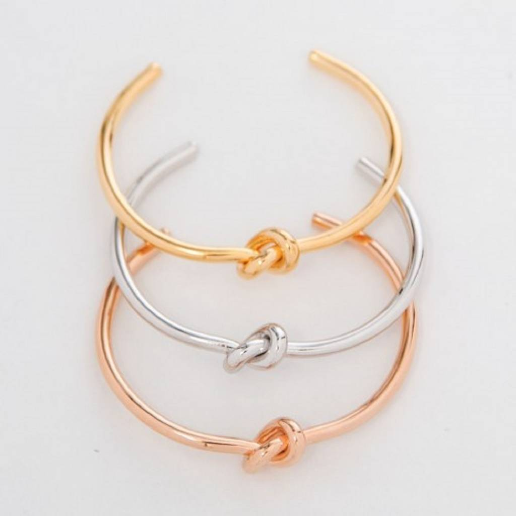 lyst s product goldtone bracelet jewelry bangles kate sailor gallery york in knot bangle gold new spade