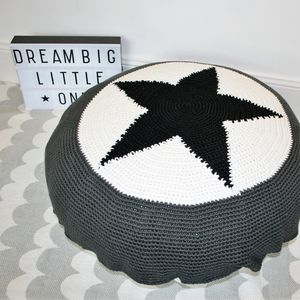 Handmade Star Floor Cushion - floor cushions & beanbags