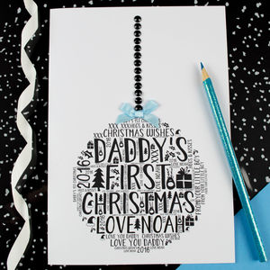 Daddy's First Christmas Son Bauble Card - cards & wrap