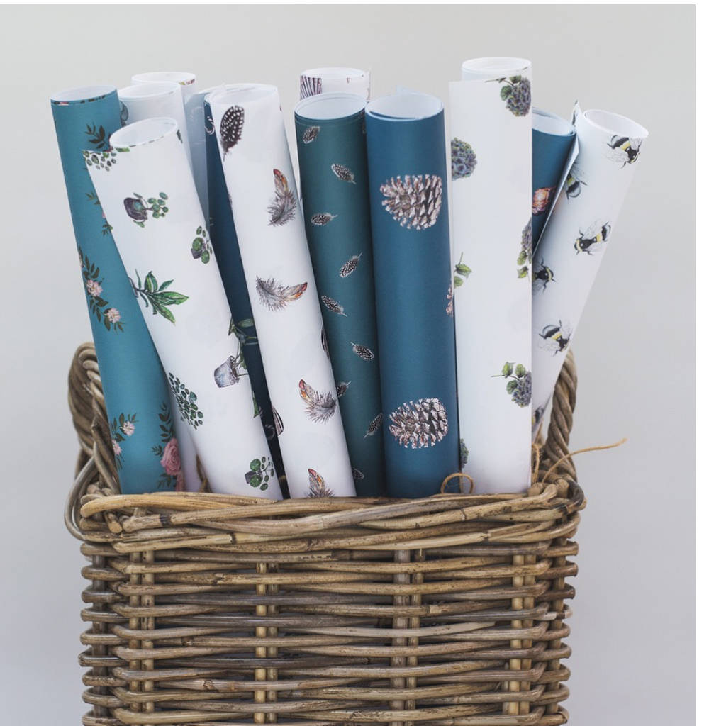 luxury christmas mistletoe gift wrap set by toasted ...