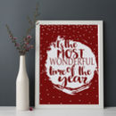 Most Wonderful Time Of The Year Christmas Print