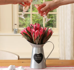 Personalised 10th Anniversary Heart Pitcher Jug - table decoration