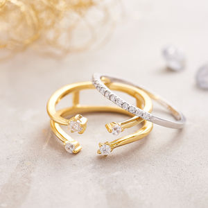 Set Of Two Gold And Silver Rings - gifts for her