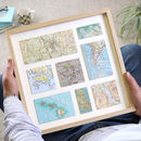 Personalised Eight Map Print Birthday Gift