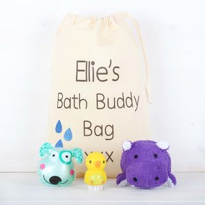 Children Personalised Bag With Bath Time Accessories