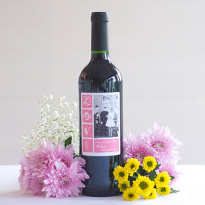 Personalised Photo Wine Bottle Red, White, Rose