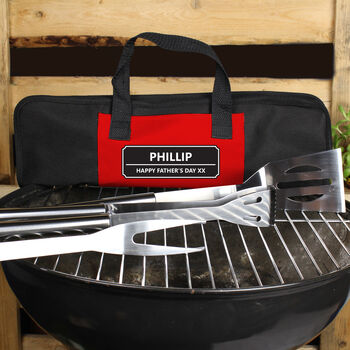 Personalised Stainless Steel Bbq Tools Kit