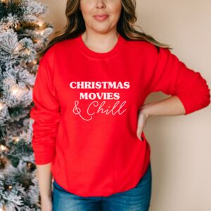 Christmas Movies And Chill Christmas Jumper