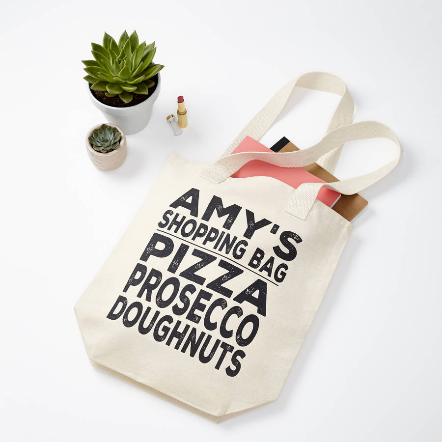 personalised shopping list canvas bag by tillyanna ...