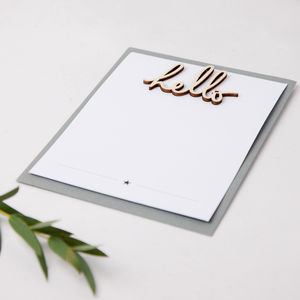 Hello Thanks Notecards Pack Of Eight