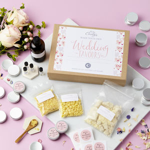 Make Your Own Personalised Wedding Favours Lip Balm Kit
