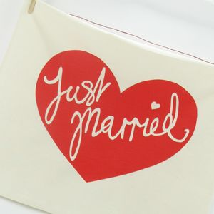 Just Married Tea Towel Gift