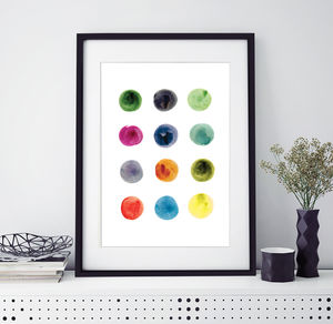 Painted Dots Print - shop by subject