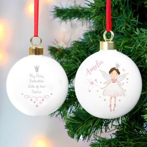 Personalised Fairy Bauble - baubles & hanging decorations