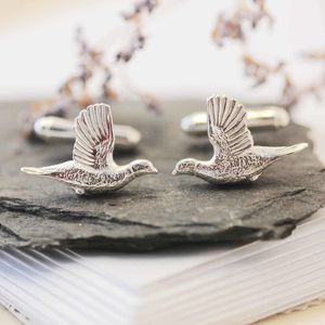 Pheasant Cufflinks - men's accessories