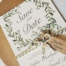 Olive Wreath Wedding Stationery Range