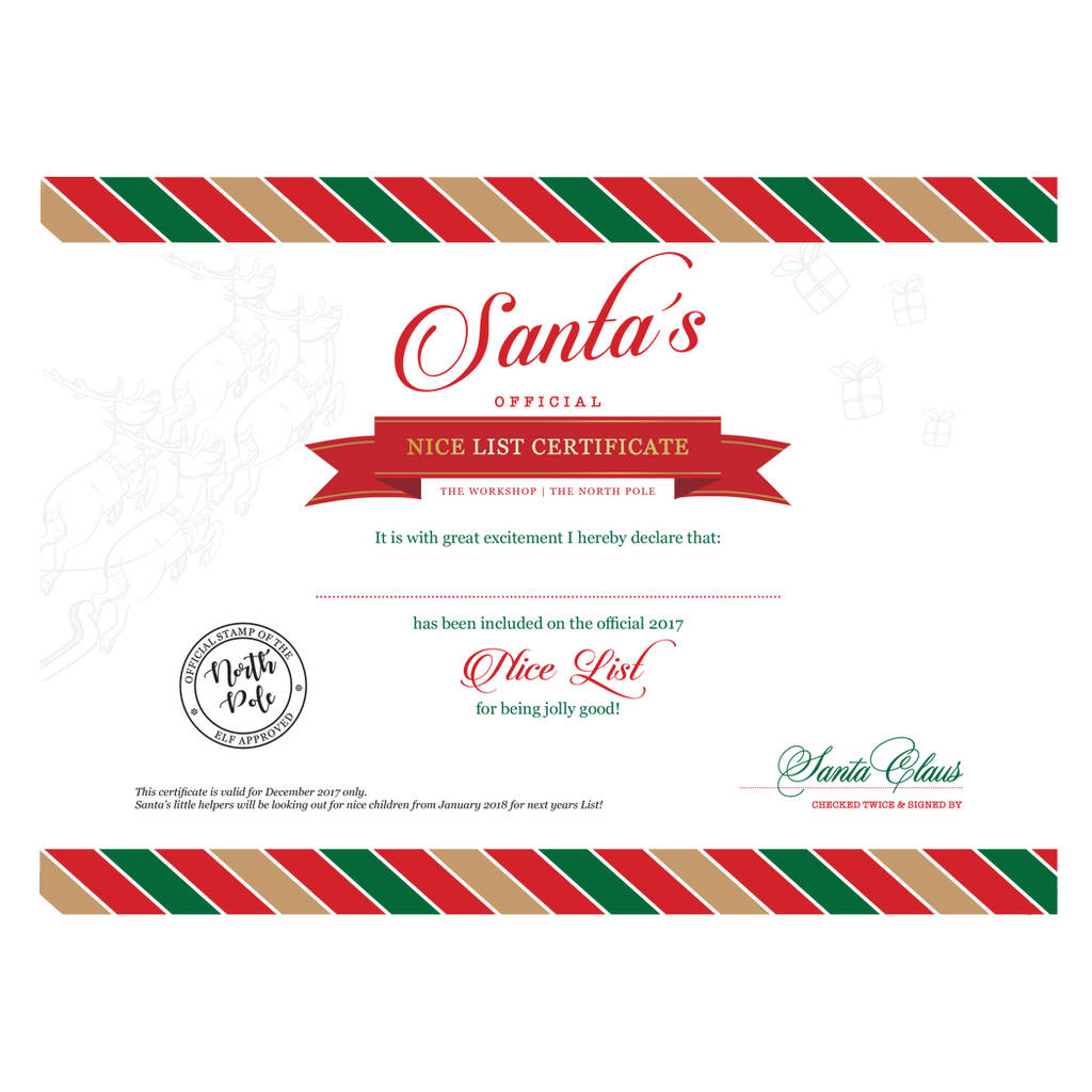 Christmas Certificate.Certificate From Santa Christmas Bubble Balloon