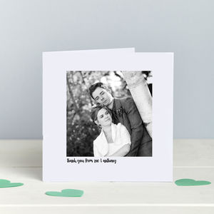 Photo Thank You Wedding Cards