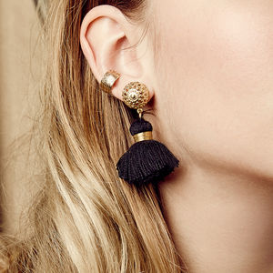 Emmeline Mini Tassel Earrings - festival season