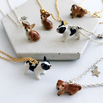 Ceramic Dog Personalised Necklace