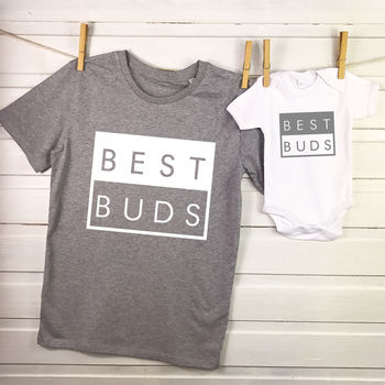 Best Buds Father And Son Matching T Shirt Set