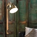 Gold And Wood Wall Light