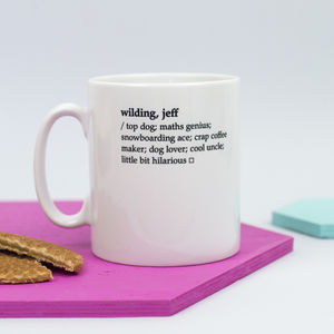 Personalised Dictionary Definition Mug - gifts for fathers