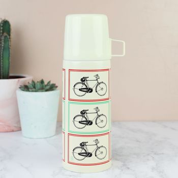Vintage Bicycle Flask And Cup