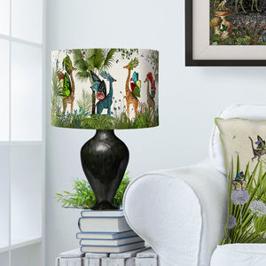 Tropical Giraffes Lampshade Bright Giraffes - bedroom