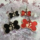 Enamel Bone Dog Tag