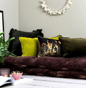 Sumptuous Velvet Cushions In A Choice Of Colours - living room