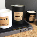 Mandle Personalised Fathers Day Gift Candle For Men