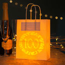 100th Birthday Party Bags Lanterns With Vellum