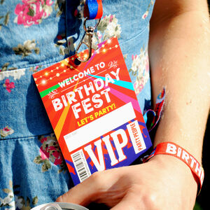 Birthdayfest Festival Theme Birthday Party Vip Lanyards