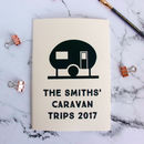 Personalised Caravan Notebook
