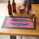 Personalised Retro Style Drinks Bar Runner