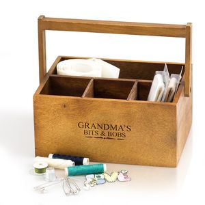Personalised Wooden Storage Caddy