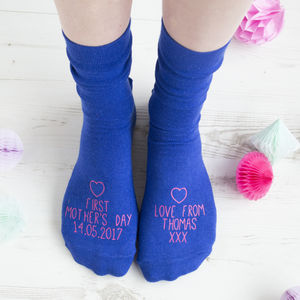First Mother's Day Personalised Socks - women's fashion