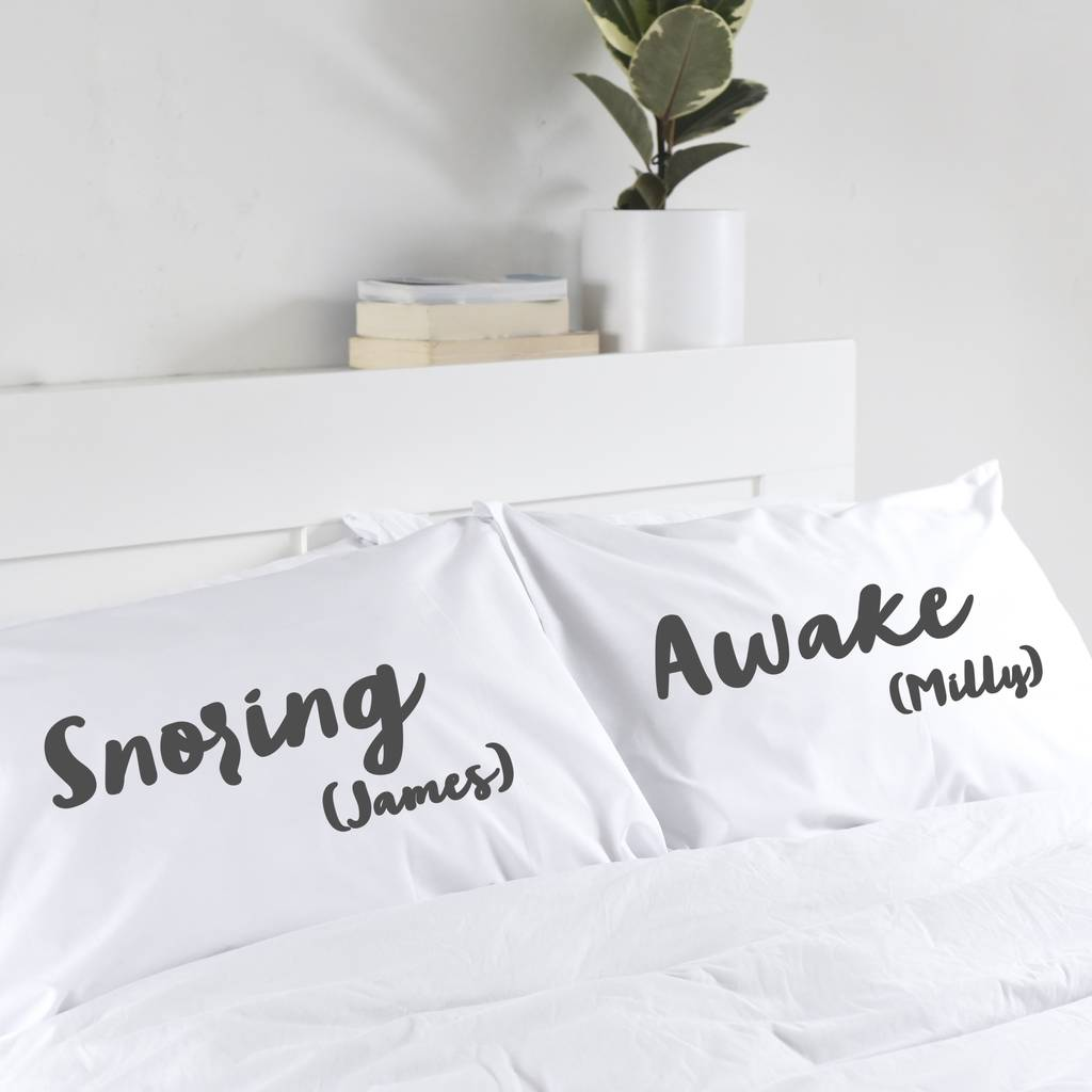 In Your Own Words Personalised Pillowcase Set