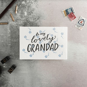 'To My Lovely Grandfather' Letterpress Card