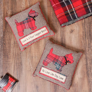 Scottie Dog Cushion Selection - bedroom