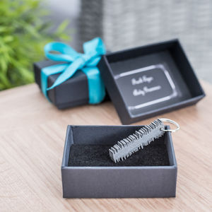 Limited Edition Personalised Song Sound Wave Keyring - gifts for him