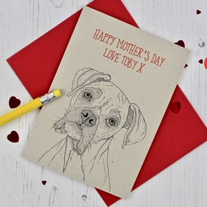 Boxer Dog Mother's Day Card