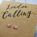 London Bus Sterling Silver Earrings