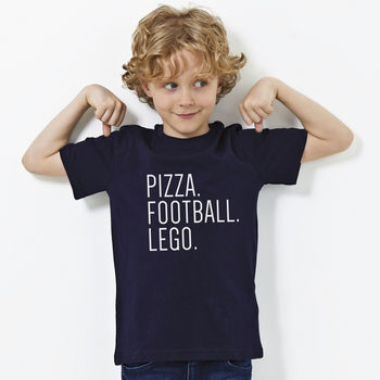 Personalised 'Favourite Things' T Shirt Child
